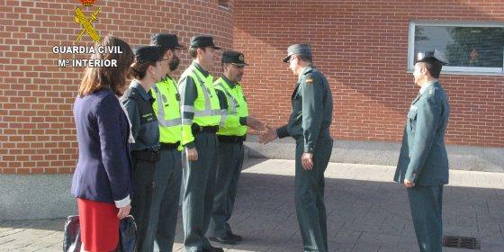 La Comandancia de la Guardia Civil de Cáceres, recibe la visita del General Jefe de la Agrupación de Tráfico