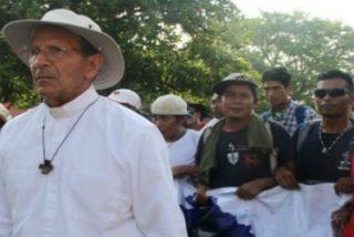 La caravana de emigrantes llega a la Basílica de Guadalupe de México DF