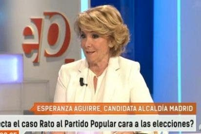 """Esperanza Aguirre no quiere ver ni en pintura a Montoro: """"De verdad, no lo llevaré a ningún mitin"""""""