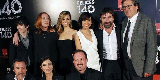 Numerosos rostros conocidos no se pierdes el estreno 'Felices 140'