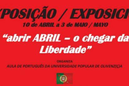"""Exposición y conferencia """"ABRIR ABRIL - O CHEGAR DA LIBERDADE"""" en Olivenza"""