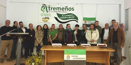 Extremeños presenta su candidatura en Burguillos del Cerro (Badajoz)
