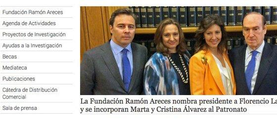 El patronato de Fundación Ramón Areces incorpora a Las hijas de Isidoro Álvarez