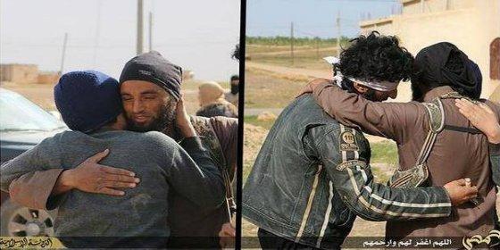 El 'piadoso' abrazo de los yihadistas a dos gays antes de lapidarlos