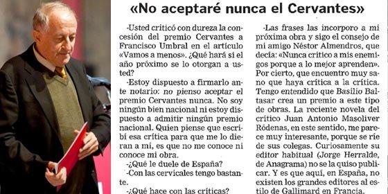 """Pérez Henares desenmascara a Goytisolo: """"Dijo que firmaría ante notario que no aceptaría el Cervantes"""""""