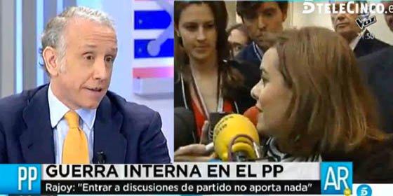 """Inda sacude de lo lindo a Sáenz de Santamaría por """"irse de rositas"""" de la debacle del PP en Andalucía"""