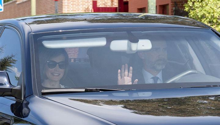 La Princesa Leonor se confiesa acompañada por sus padres, Felipe VI y Letizia