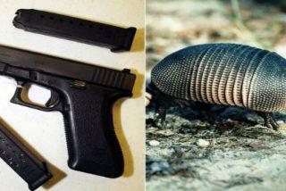 Dispara a un armadillo con una pistola y la bala alcanza a su suegra de rebote