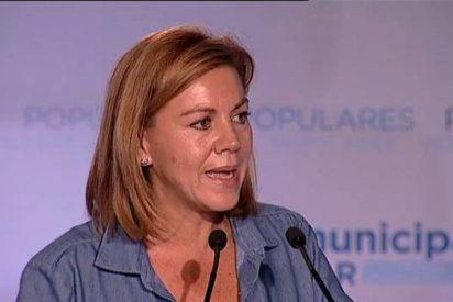 """Cospedal asegura que el PP ofrece resultados frente a """"quienes quieren quitar el AVE o bajar un 20 por ciento las pensiones"""""""