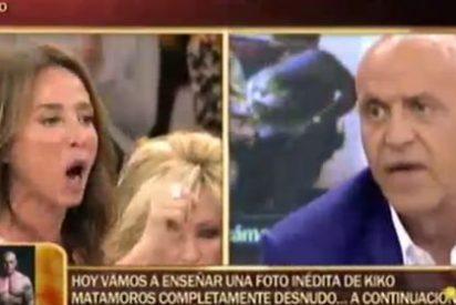 """María Patiño le para los pies a un iracundo Matamoros: """"A tu mujer le hablas como quieras, a mí no. Métete tus huevos en la boca"""""""