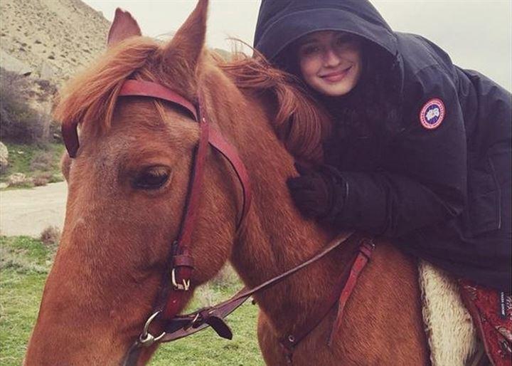 María Valverde, una amante de los caballos