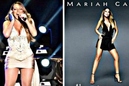 ¿Se le ha ido la mano a Mariah Carey con el Photoshop en la portada de su nuevo disco?