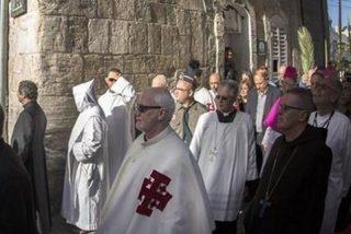 Miles de cristianos celebran en Jerusalén la Pasión de Cristo