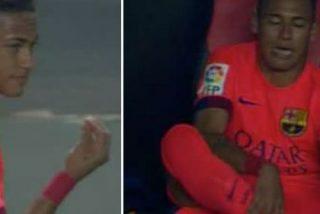 Cabreo monumental de Neymar con Luis Enrique por cambiarle frente al Sevilla
