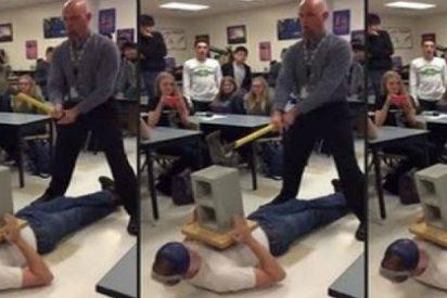 El vídeo del profesor que ha perdido su trabajo... ¡por golpear el pene de su alumno con un hacha!