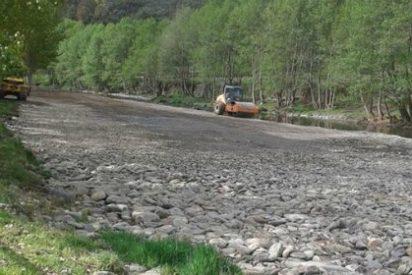 Malestar en Pinofranqueado por el destrozo del cauce del río para un acto de campaña de Monago