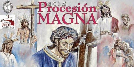 Procesión Magna 2015 en Cáceres