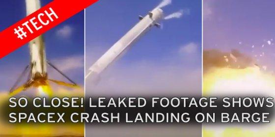 El vídeo de la impresionante explosión del cohete espacial de SpaceX al aterrizar
