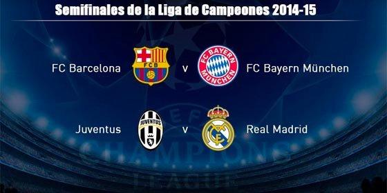 Sorteo Champions League: Barcelona-Bayern Munich y Juventus-Real Madrid