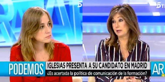 """Las 5 'bofetadas' de Ana Rosa a Tania: """"¡A ningún candidato le voy a hacer la entrevista que quiera Podemos!"""""""