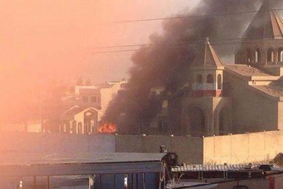 El Estado Islámico incendia una iglesia en el noroeste de Siria