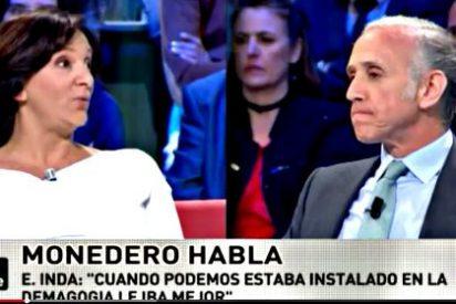 """Carolina Bescansa a Eduardo Inda: """"¡No vayas de repelente niño Vicente! ¡Caradura!"""""""