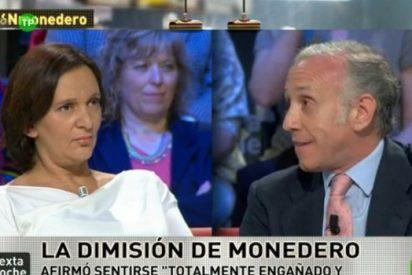 Eduardo 'Mayweather' Inda vs Carolina 'Pacquiao' Bescansa en laSexta Noche, Monedero, ¿santo o demonio?