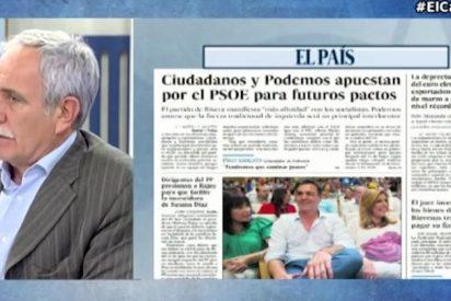"""Henares desencuaderna a El País por empujar a Ciudadanos a pactar con el PSOE: """"Albert Rivera tiene más inteligencia"""""""