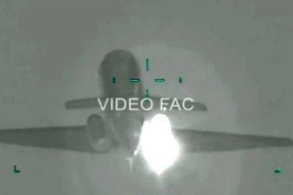 [Vídeo] Así se estrella una 'avioneta chavista' cargada de cocaína tras ser cazada