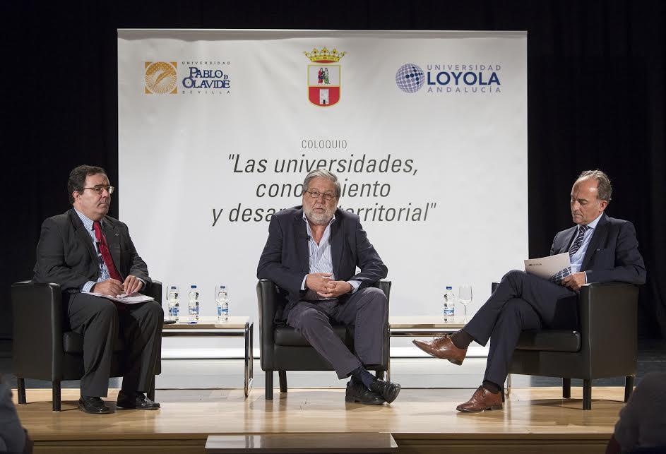 Coloquio de los rectores de la UPO y de Loyola Andalucía