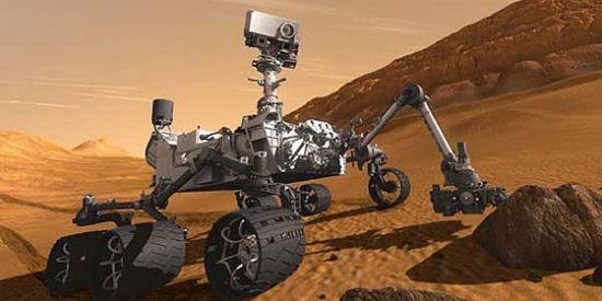 Las increíbles imágenes de la azulada puesta de Sol en el marciano cráter Gale