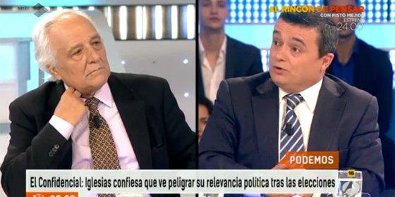 """Raúl del Pozo a Chema Crespo: """"Tú que tienes La Tuerka no sé si habrás visto la guillotina, pero Iglesias habla de los enemigos del pueblo como el más duro estalinista"""""""