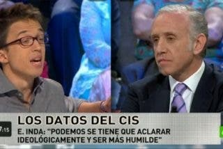 """El periodista Eduardo Inda al podemita Iñigo Errejon: """"Pablo Iglesias es un fantoche"""""""