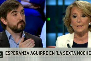 "Esperanza Aguirre deja KO a Nacho Escolar: ""Oiga, su esposa está en RTVE, ¿no?"""