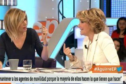 """Susanna Griso se harta de la campaña de Aguirre: """"Debe funcionarle, a tenor de las encuestas, arrearle a Atresmedia"""""""