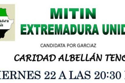 Extremadura Unida cierra su campaña en Garciaz (Cáceres)