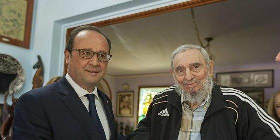 El insólito e histórico 'cubalibre' entre Hollande y Fidel Castro sin nada de hielo