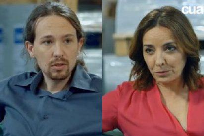 """Pablo Iglesias se pone chulo con Pepa Bueno: """"¿Estás acusando a Monedero de un delito?"""""""