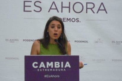 Irene Montero apoya en Plasencia la candidatura de Álvaro Jaén