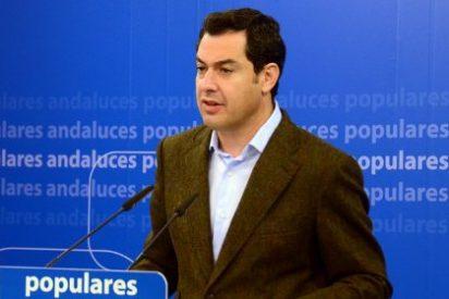 """Moreno emplaza a Díaz a """"buscar puntos de encuentro"""" y traslada al PSOE un documento de propuestas prioritarias para Andalucía"""