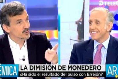 """Inda le da para el pelo al podemita José Manuel López: """"¡No nos tomes el pelo diciendo que Monedero se va porque es un intelectual!"""""""