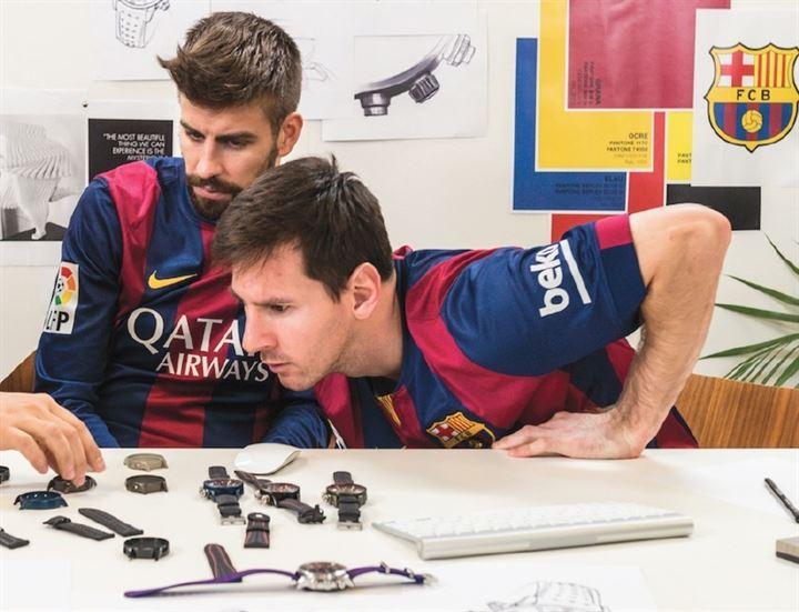 Los jugadores del FC Barcelona diseñan sus propios relojes de Maurice Lacroix