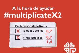 """Cáritas propone """"multiplicarse por dos"""" para ayudar al doble en su declaración de la Renta"""