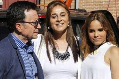 Ortega Cano junto a su familia en Las Ventas