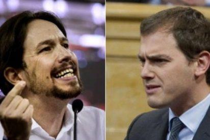 Pablo Iglesias tiene miedo a quedar mal y rechaza sentarse en el mismo sofá con Albert Rivera
