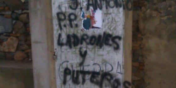 PP Badajoz condena las pintadas insultantes que contra el partido aparecidas en Zalamea de la Serena
