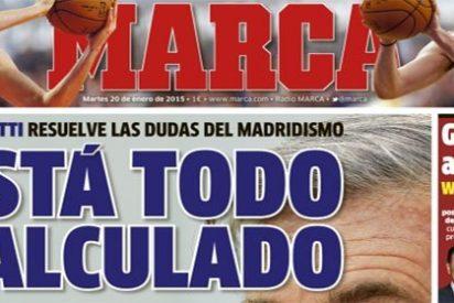 """Pedrerol apuntilla a José Félix Díaz por una portada de Marca que retrata a Ancelotti: """"Estás muy nervioso, sabes que te valoramos"""""""