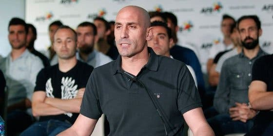 """Javier Tebas no se muerde la lengua: """"La foto de la AFE parece de Bildu o Batasuna, todos sentados detrás de Luis Rubiales"""""""