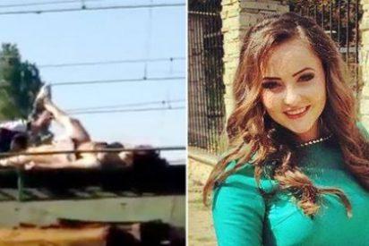 Así quedó la joven que explotó en llamas sobre un tren haciéndose una 'selfie'