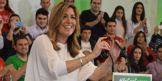 """Susana Díaz: """"Asumimos con responsabilidad la tercera victoria electoral consecutiva del PSOE en Andalucía"""""""